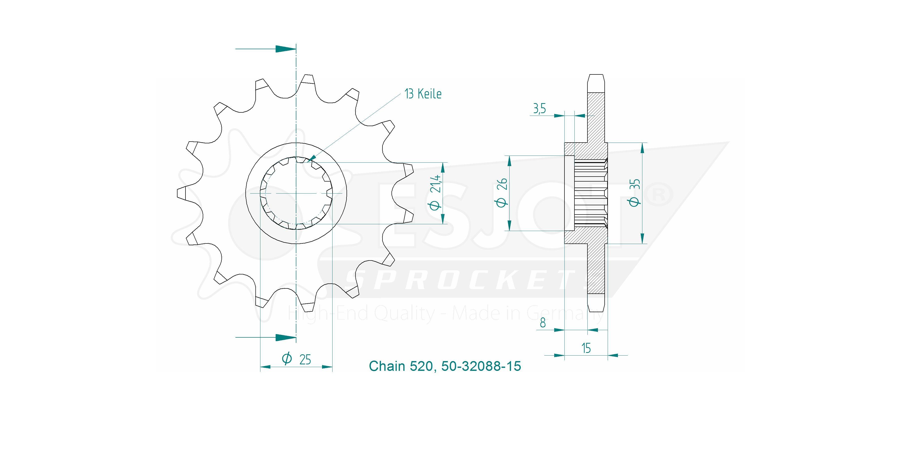 Esjot Ritzel 17Z 520T